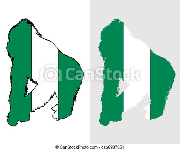 Gorilla Nigeria - csp6987651