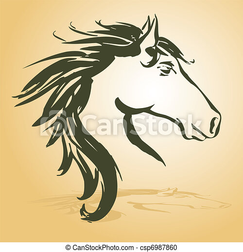 horse head - csp6987860