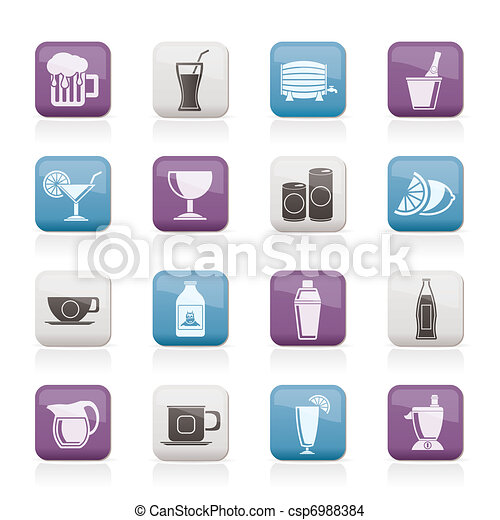 beverages and drink icons - csp6988384