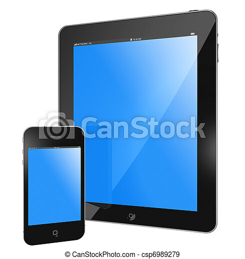 Tablet PC - i Pad and i Phone - csp6989279
