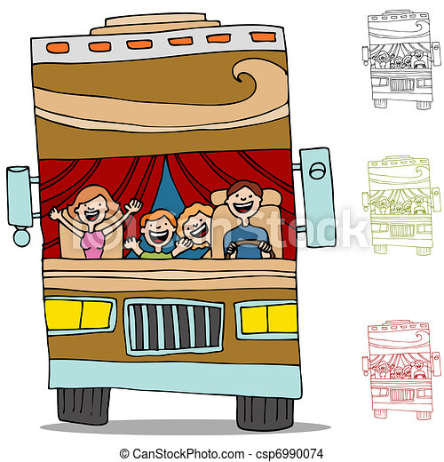 Vecteur EPS de camping car, voyage, route - An, image, de ...
