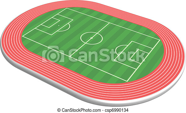 3 dimensional football field pitch - csp6990134