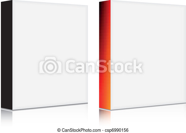 vector 3d blank software box with solid and gradient front - csp6990156