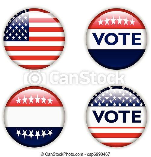 vote badge for united states - csp6990467
