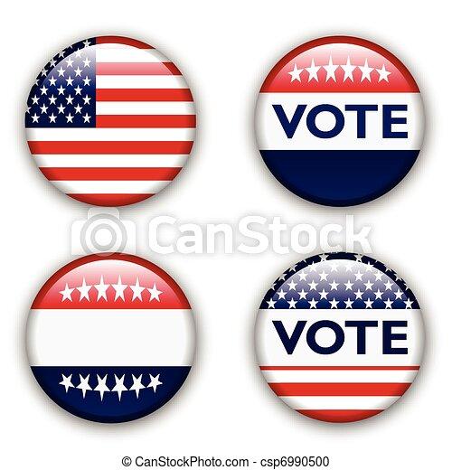 vote badge for united states - csp6990500