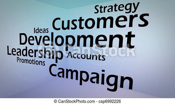Creative image of business development concept - csp6992226