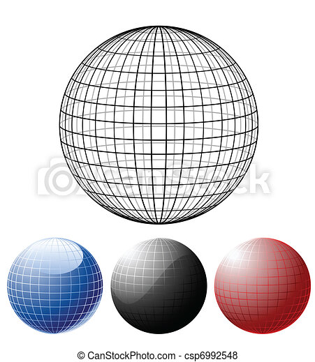 Set of colored globes - csp6992548