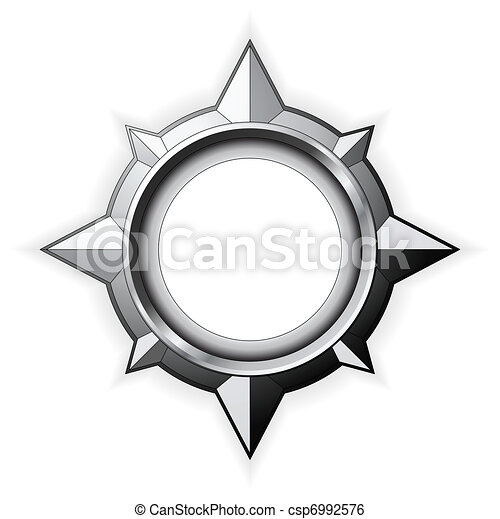 Steel Compass Rose - csp6992576
