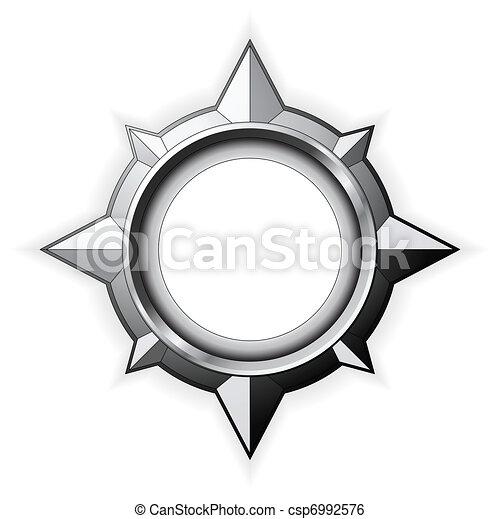 Steel Compass Rose - csp6992576