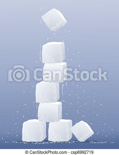 sugar cube tower - csp6992719