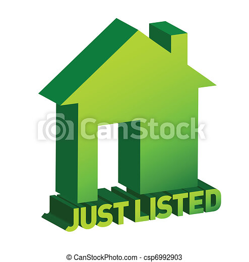 Green home sign, Real Estate - csp6992903