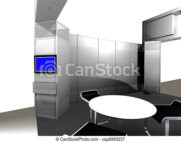 Inside of an exhibition Booth - csp6993237