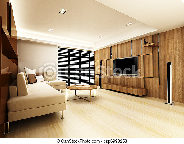 Modern living room  - csp6993253