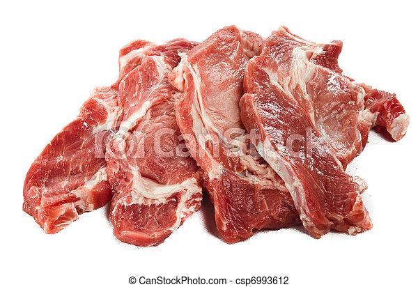 Raw juicy meat - csp6993612