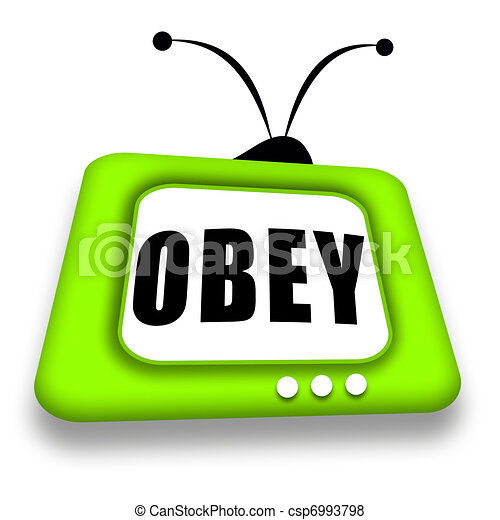 Obey TV - csp6993798