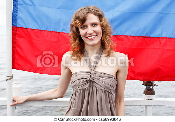 One Russian beautiful young woman - csp6993846
