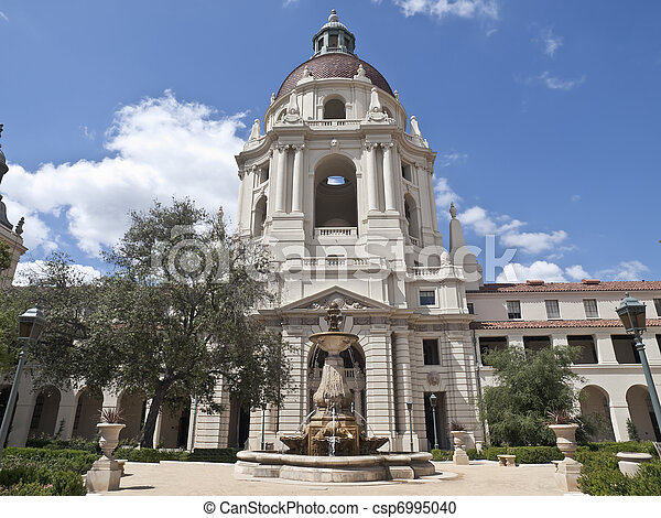 Pasadena City Hall Courtyard - csp6995040
