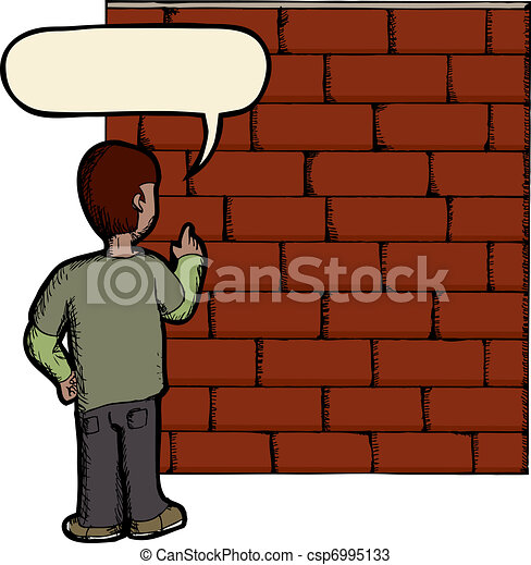 Talking To A Brick Wall - csp6995133