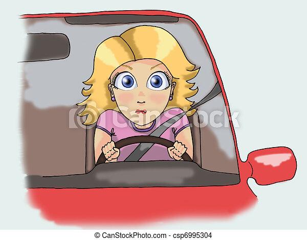 Girls Driving Clip Art