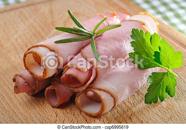 Ham rolls - csp6995619