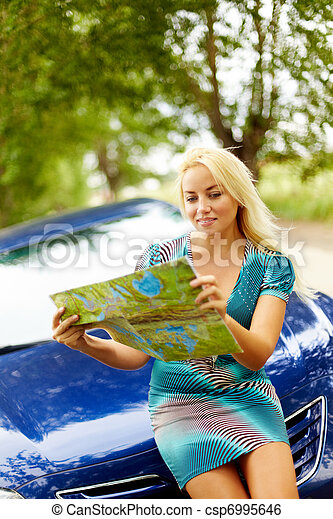 Journey on car - csp6995646