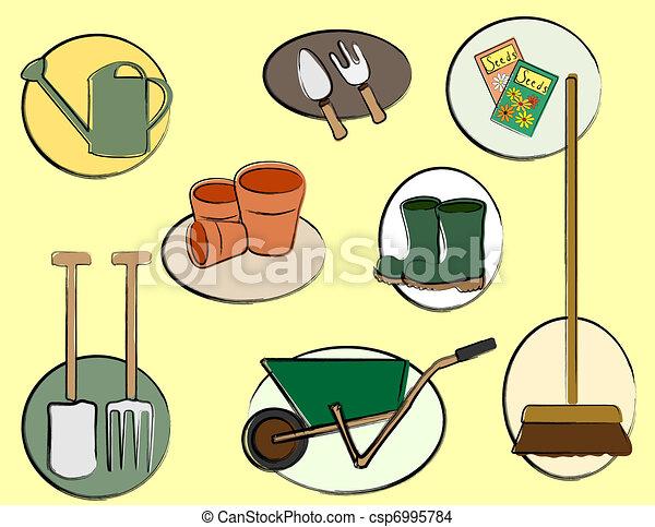 Gardening tools - csp6995784