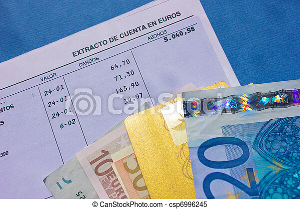 money and bank account - csp6996245