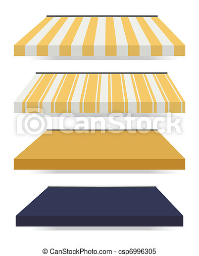 four different colored vector awnings - csp6996305