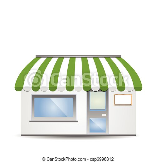 Storefront Awning in green - csp6996312
