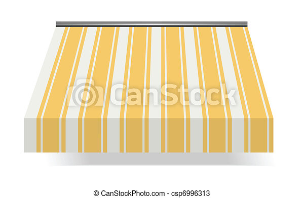 Storefront Awning in Yellow - csp6996313