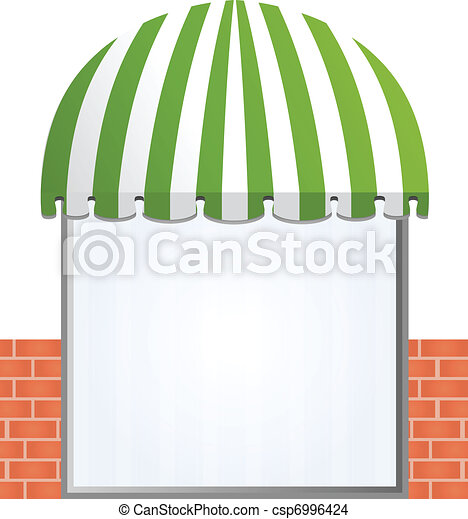 Storefront Awning in green - csp6996424