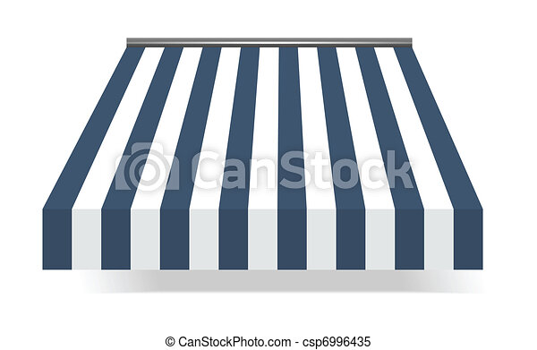 Storefront Awning in blue - csp6996435