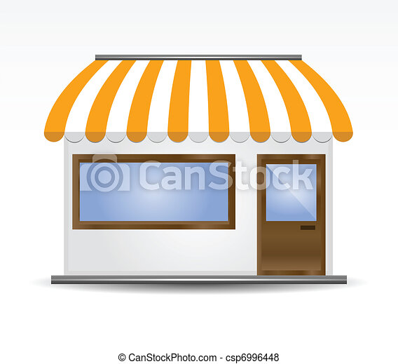 Storefront Awning in yellow - csp6996448