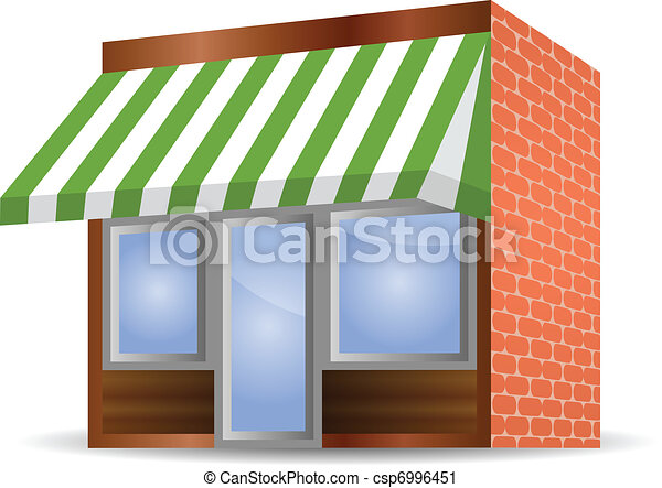 Storefront Awning in green - csp6996451