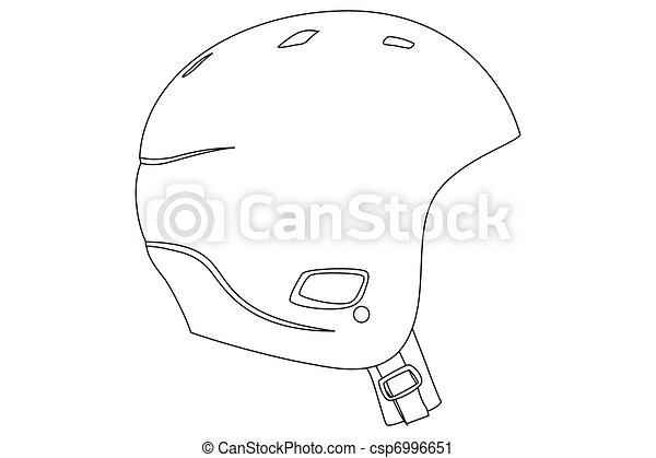 Bike Helmet Outline Black Outline Sports Helmet on
