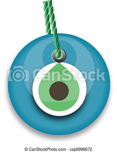 bead, worn to avert the evil eye - csp6996672