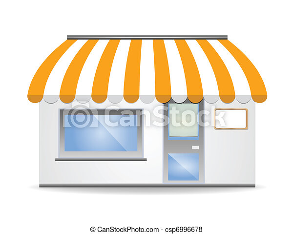 Storefront Awning in yellow - csp6996678
