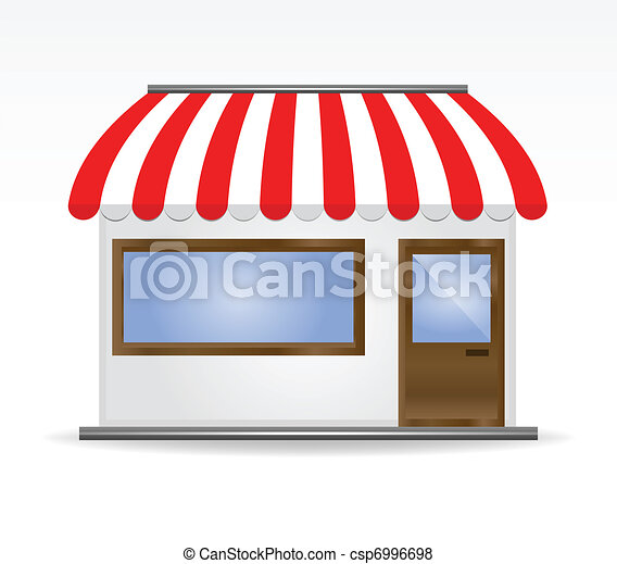 Storefront Awning in red - csp6996698