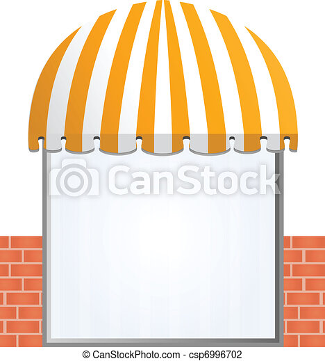 Storefront Awning in yellow - csp6996702