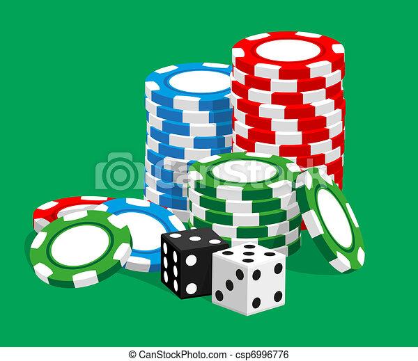 Casino illustration - csp6996776