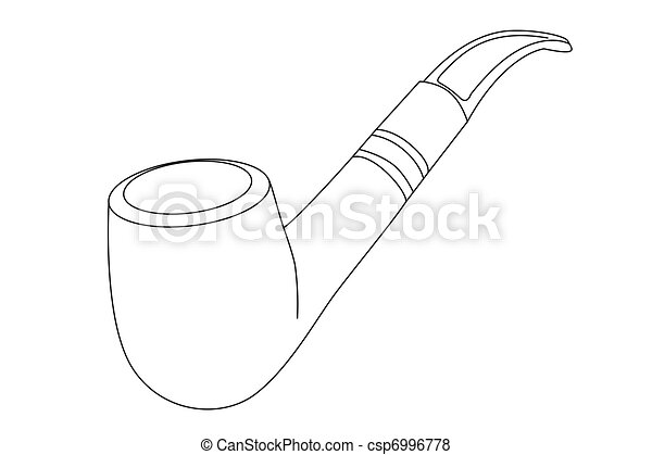 vector tobacco pipe - csp6996778
