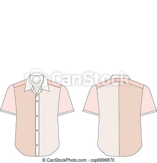 Collar Dress Shirt In Red Color Tones - csp6996870