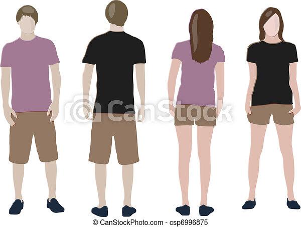 t-shirt design templates (front & back) - csp6996875
