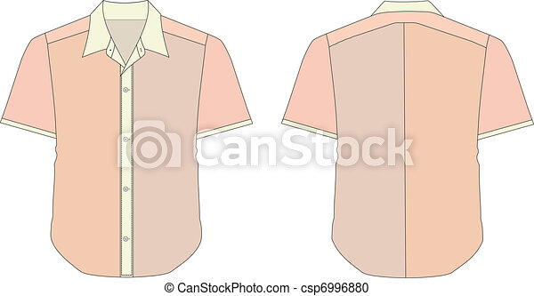 Collar Dress Shirt In Brick Color Tones - csp6996880