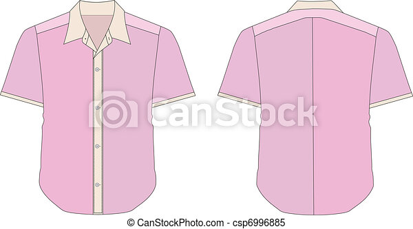 Collar Dress Shirt In Pink Color Tones - csp6996885