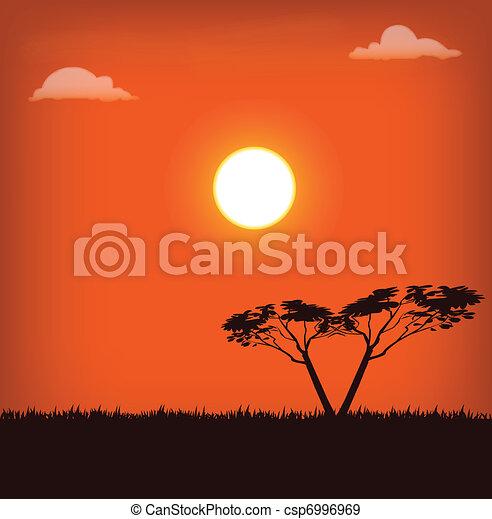Africa landscape - csp6996969