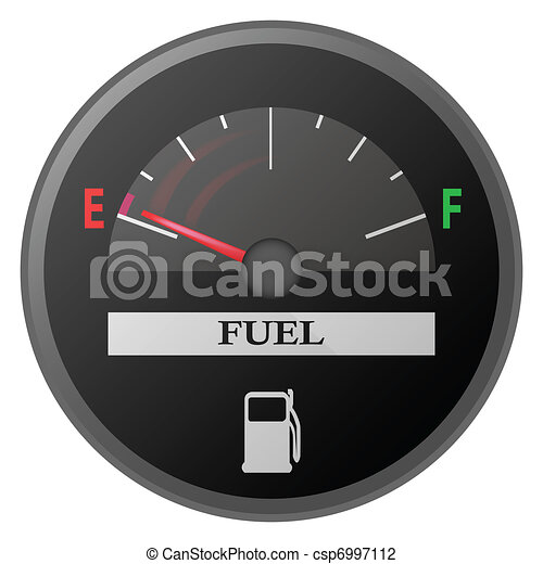 car dash board petrol meter, fuel gauge - csp6997112