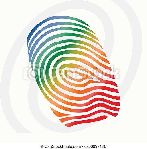 vector finger print - csp6997120