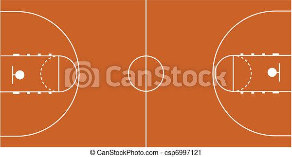 Vector Illustration of the Basketball Court - csp6997121