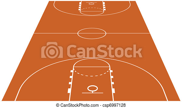 Vector Illustration of the Basketball Court - csp6997128